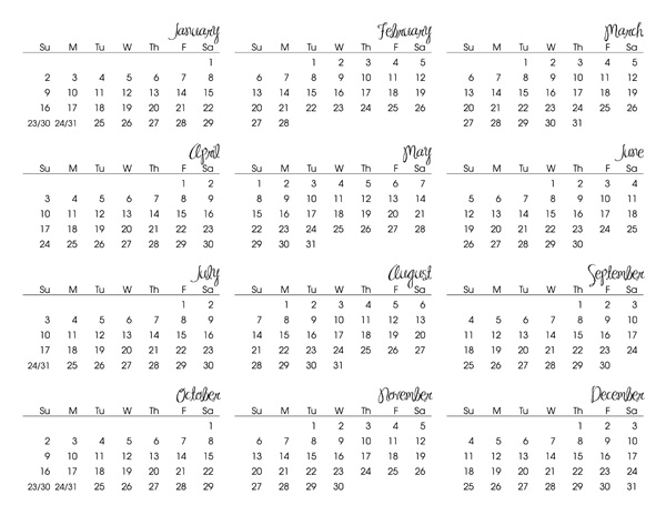 Last year at Christmas I shared a free 2010 calendar printable, well,