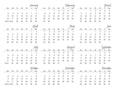 2011 Calendar Printable FREEBIE