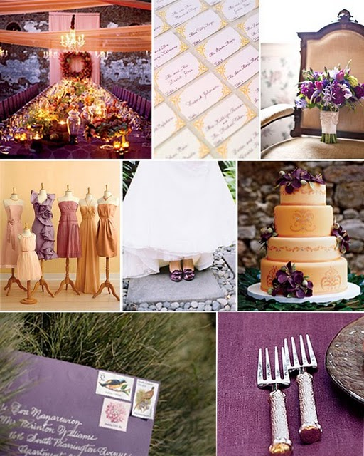 Purple And Gold Wedding Decorations