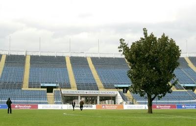 Pohon di Tengah Lapangan Sepak bola
