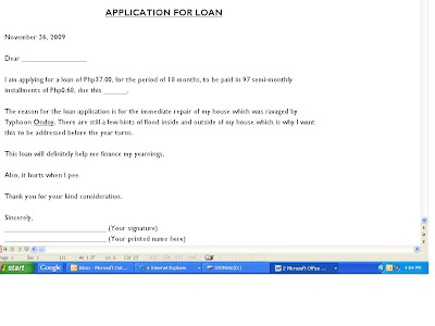 Sydrified Sports and Entertainment: Sample Loan Application Letter