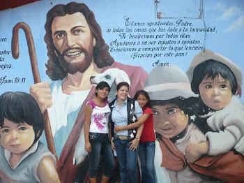 Saludos a  mis ahijados y ahijadas de la Aldea Infantil Virgen de la Paz