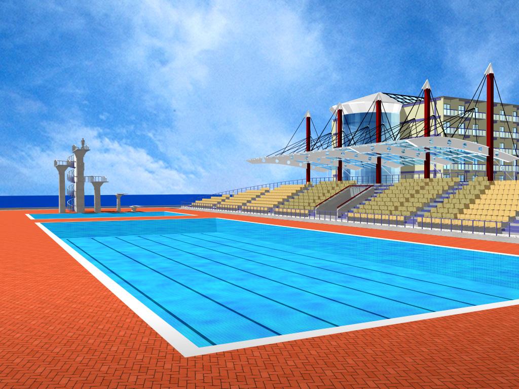 Francisco meirelles centro poliesportivo da universidade for Piscina olimpica