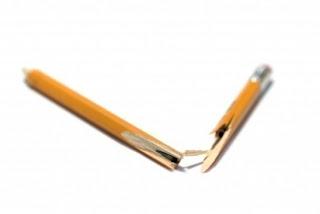 كسرت أقلام