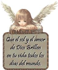 gracias por tu angel.maria del carmen
