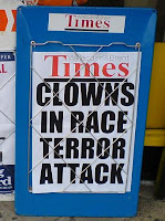 Clowns in Race Terror Attack