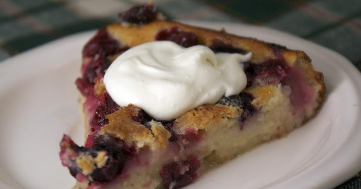 Cranberry Clafoutis ~ Heat Oven to 350