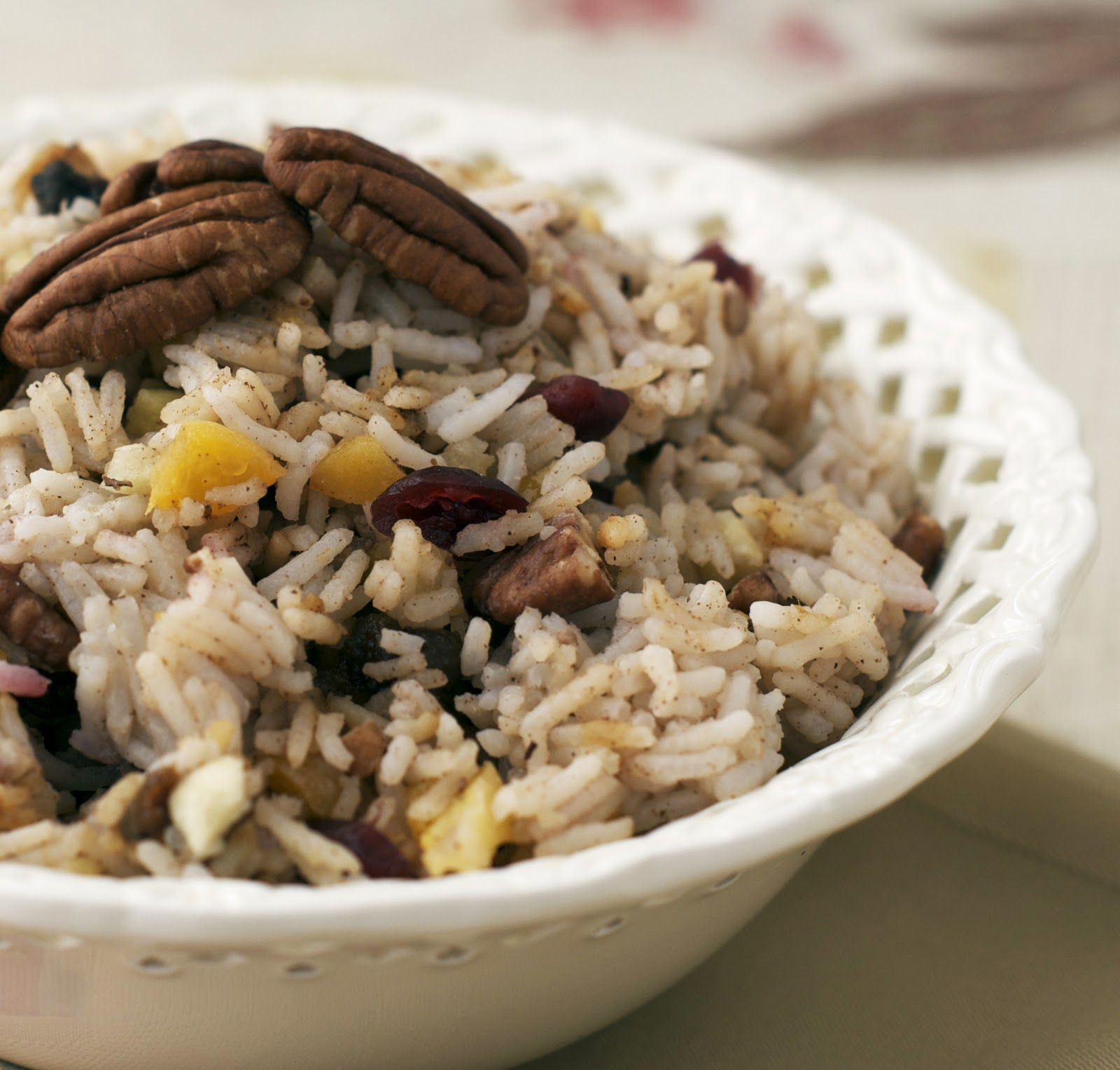 Festive Rice with Fruits and Nuts ~ Heat Oven to 350