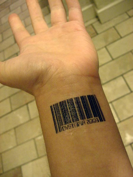 Has anyone with a barcode tattoo tried to scan themself at a convenience