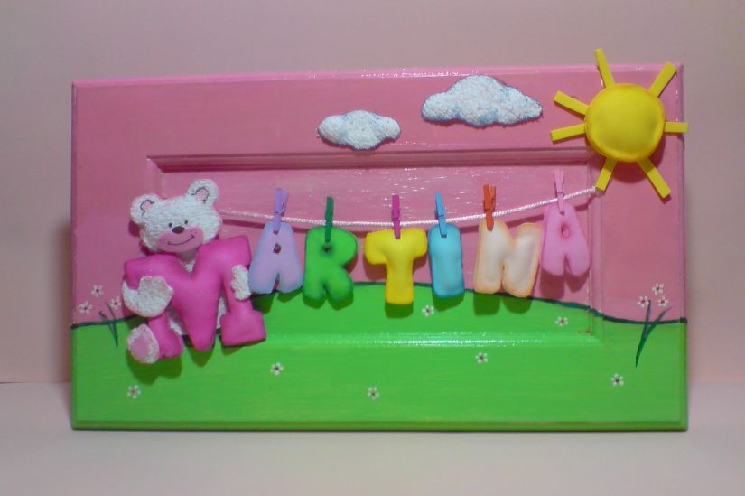 Como hacer cuadros infantiles en goma eva imagui - Hacer nombres con goma eva ...