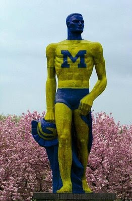 maize and blue sparty