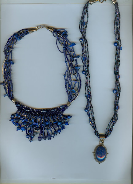 2 lapis lazuli necklaces