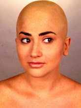 Bald Cap and natural Makeup