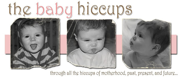 The Baby Hiccups Blog Design