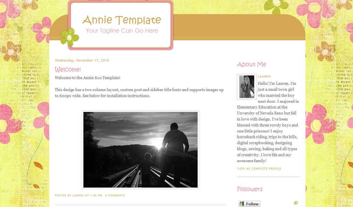Annie Blog Template