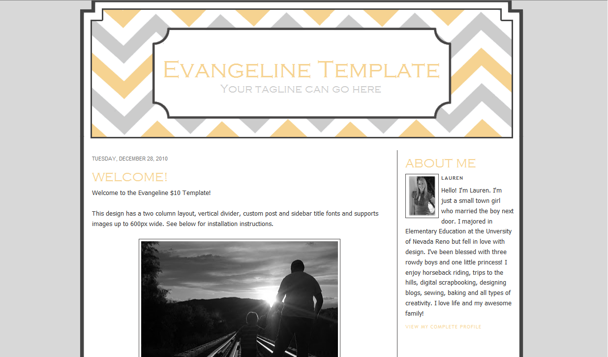Evangeline Blog Template