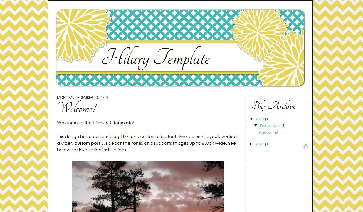 Hilary Blog Template