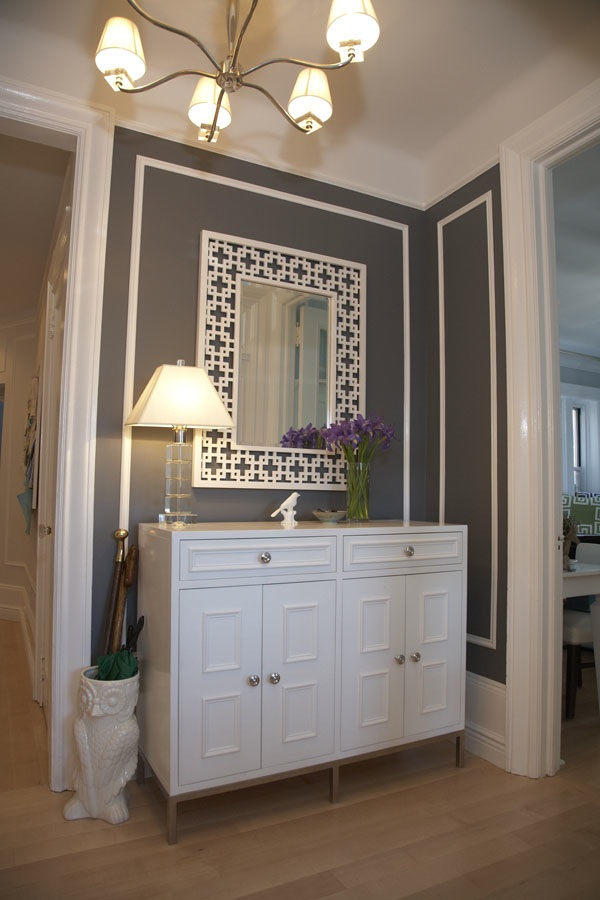 Foyer Mirror Newspaper : Dwellers without decorators chez moi part hallway and