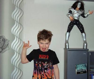 my son Gene with his first KISS T-Shirt
