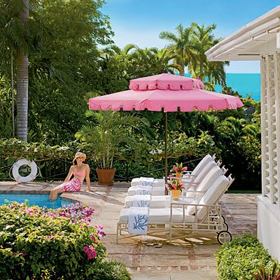 Patio Furniture Sets  Umbrella on Such A Dream For A Pool Patio Especially Vintage Styled Umbrella