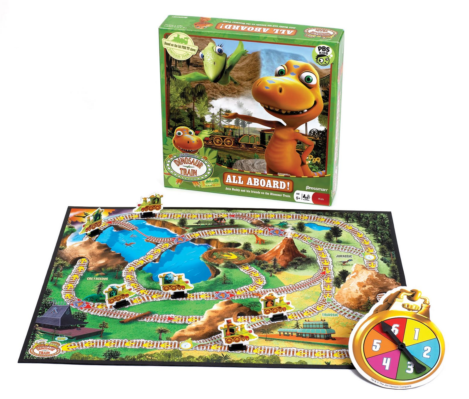 4c2328ce91e DINOSAUR TRAIN ALL ABOARD GAME FROM PRESSMAN TOY CORP  Join Buddy and his  friends on the DINOSAUR TRAIN! Choose a character – Buddy, Tiny, Shiny, Don,  Cory, ...