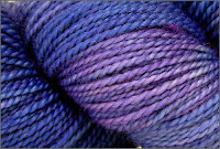 Close-up of Blue Grape Hyacinth yarn