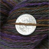 Moonstone yarn, close-up