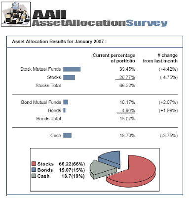 American Association of Indivdual Investors asset allocation