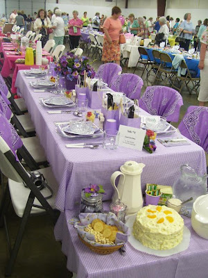 I Loved Everything About This Tablescape From The Lavender Colored Gingham  Tablecloth To The Adorable Bandanas, And Those Floral Plates.