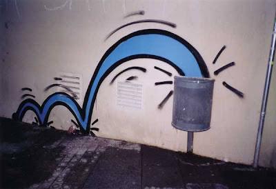 graffiti divertido papelera