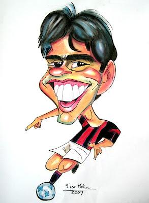 caricatura de Kaka