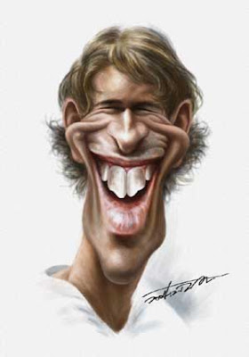 caricatura de Van Nistelroy