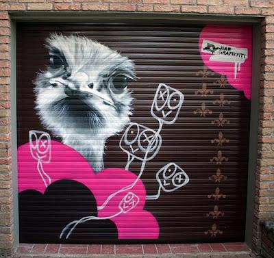 foto de graffiti en persiana garaje