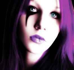 Miharu-sama Maquillaje-gotico-violeta