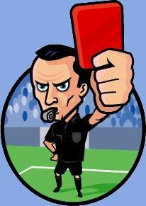 arbitro enseña tarjeta roja