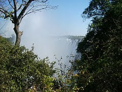 "Victoria Falls ""the mist that thunders""."