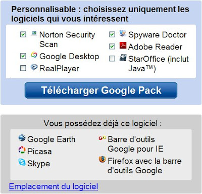 staroffice disponible dans le googlepack