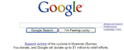 google Support disaster relief in Myanmar Burma