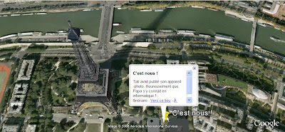 créer une carte postale avec Google Earth