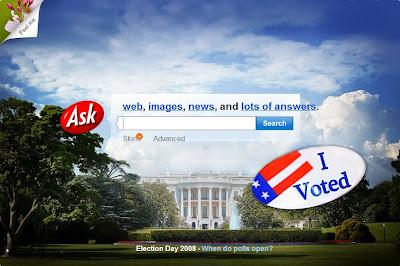 Elections américaines 2008 avec Ask