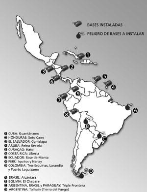 Bases Militares Existentes en América Latina