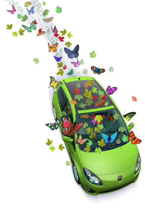 Renault Twingo Poster. I was asked by the Sense Ad Agency to make this image