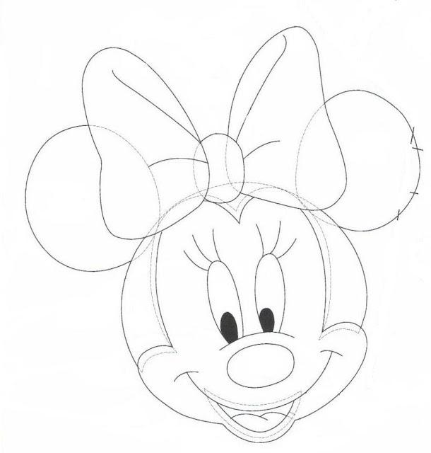Moldes de la cara de Minnie Mouse. | Ideas y material gratis para ...