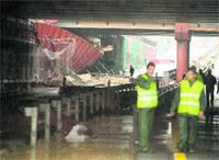 Tunel de Sevilla inundado
