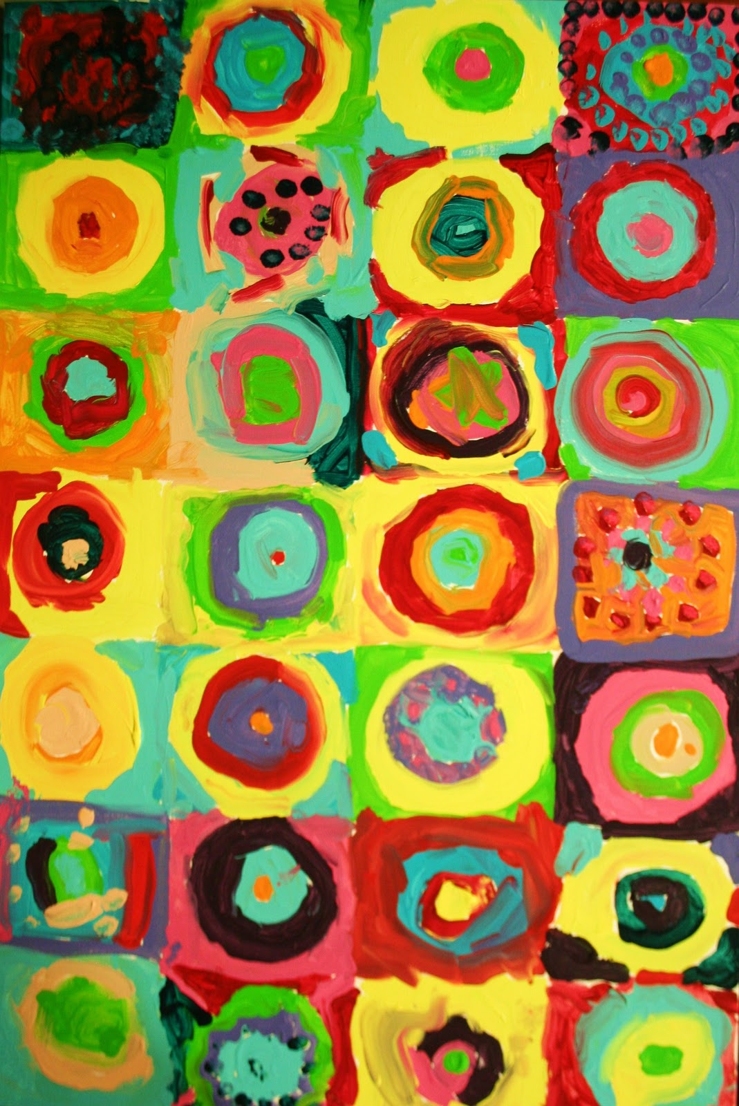 Wassily Kandinskys paintings are perfect to share with young children his abstract artwork is full of recognizable shapes and colors! We created a printable