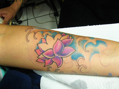 foto de tatuajes con flor. Tatuajes de Flor de Loto