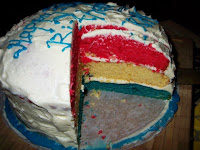 Patriotic Vanilla Cake with Butter Cream Frosting
