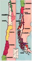 Mapa de los pueblos aborigenes chilenos
