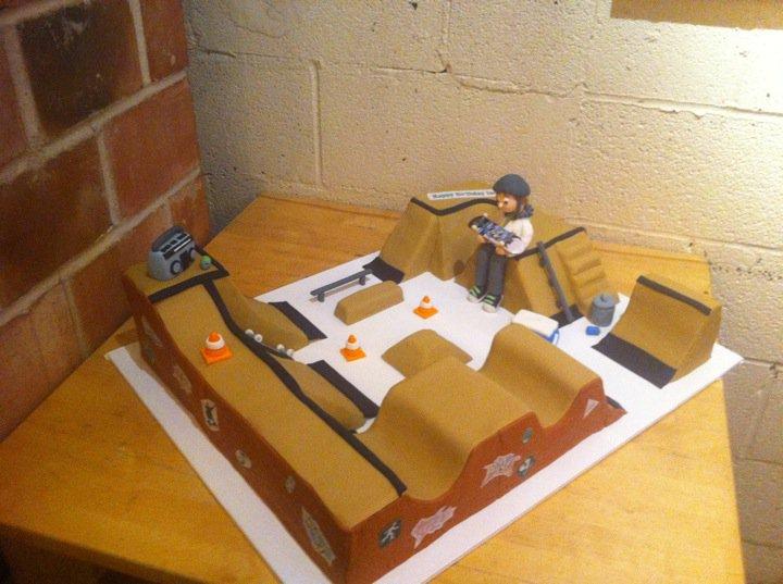 New skatepark cake