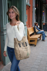 Lauren Bush with Feedbag